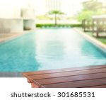 wood table top of background... | Shutterstock . vector #301685531