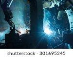 welding robots movement in a... | Shutterstock . vector #301695245