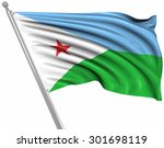 flag of djibouti   this is a... | Shutterstock . vector #301698119