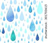 seamless rainy pattern   Shutterstock .eps vector #301703615