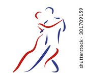 Dancing Couple Logo. Argentine...