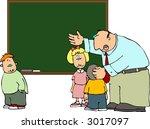 teacher's explanation | Shutterstock .eps vector #3017097