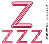 crimson line z logo design set