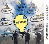 business team writing against...   Shutterstock . vector #301711514