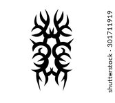 tattoo tribal vector design.... | Shutterstock .eps vector #301711919