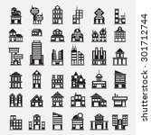 36 building icons | Shutterstock .eps vector #301712744