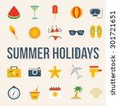 summer icons | Shutterstock .eps vector #301721651