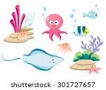 Underwater Cartoon Creatures