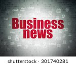 news concept  painted red text...   Shutterstock . vector #301740281