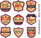 badge  shield and label sets | Shutterstock .eps vector #301743701