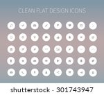 style and clean icons pack for... | Shutterstock .eps vector #301743947