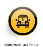 school bus icon design on...