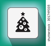 pictograph of christmas tree   Shutterstock .eps vector #301749335