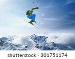 skier jumps | Shutterstock . vector #301751174
