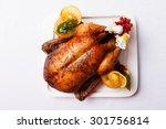 roasted turkey | Shutterstock . vector #301756814