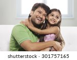 father and daughter enjoying | Shutterstock . vector #301757165