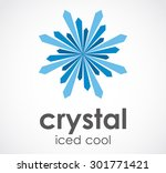 crystal iced cool blue abstract ...   Shutterstock .eps vector #301771421