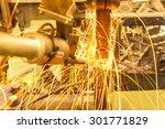 industrial welding spot nut... | Shutterstock . vector #301771829