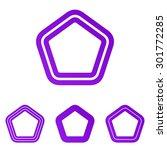 purple line pentagonal logo...