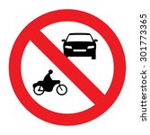 prohibiting thoroughfare sign... | Shutterstock .eps vector #301773365