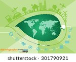 abstract ecology connection... | Shutterstock .eps vector #301790921