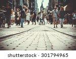 tram rails | Shutterstock . vector #301794965
