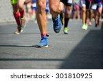 marathon runners | Shutterstock . vector #301810925