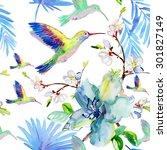 Tropical Floral Watercolor...