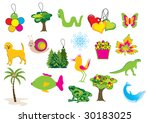 collection of vector nature... | Shutterstock . vector #30183025