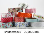 washi tape rolls for handcrafts | Shutterstock . vector #301830581