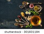 cup of herbal tea from wild... | Shutterstock . vector #301831184