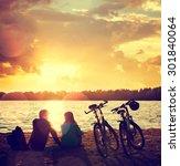 Romantic Couple With Bikes...