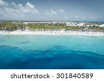 aerial view of grand turk island | Shutterstock . vector #301840589