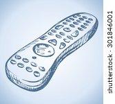 modern tv satellite receiver... | Shutterstock .eps vector #301846001