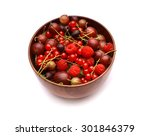 gooseberry  red currant and... | Shutterstock . vector #301846379