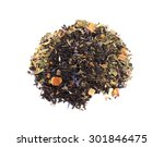 black tea with ginseng  ginger  ... | Shutterstock . vector #301846475