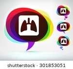 lungs x ray on colorful speech... | Shutterstock .eps vector #301853051