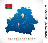belarus map with navigation... | Shutterstock .eps vector #301856825