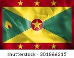 grenada waving flag | Shutterstock . vector #301866215