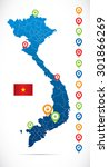 vietnam map with navigation... | Shutterstock .eps vector #301866269