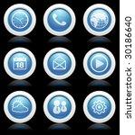 blue mobile button reflex icons - stock vector