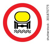 traffic sign prohibiting... | Shutterstock .eps vector #301870775