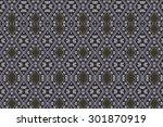 cloth embroidered motifs close | Shutterstock . vector #301870919