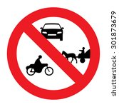 prohibiting thoroughfare sign... | Shutterstock .eps vector #301873679