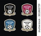 Set Of Soccer Football Crests...