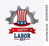 labor day card design  vector... | Shutterstock .eps vector #301894055