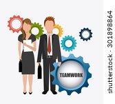 business teamwork design ...   Shutterstock .eps vector #301898864