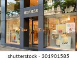 hong kong   may 7  hermes store ... | Shutterstock . vector #301901585