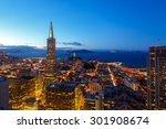 city lights of downtown san... | Shutterstock . vector #301908674