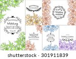 wedding invitation cards with... | Shutterstock . vector #301911839